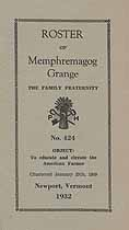 Thumbnail image of Memphremagog Grange 1932 Roster cover