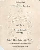 Thumbnail image of Upper Salford Township 1907 Commencement cover