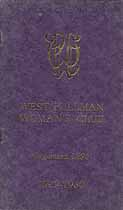 Thumbnail image of West Pullman Woman's Club 1929-1930 Directory cover