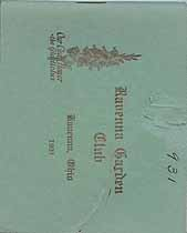 Thumbnail image of Ravenna Garden Club 1931 cover