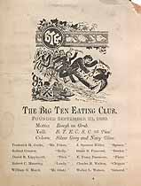 Thumbnail image of The Big Ten Eating Club Undated Member List cover