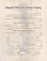 Thumbnail image of Independent Mutual Fire Insurance Company 1893 Report cover