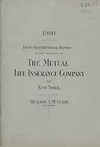 Thumbnail image of The Mutual Life Insurance Company of New York 1899 Report cover