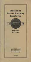 Thumbnail image of Portland Street Railway Employes 1924 Roster cover