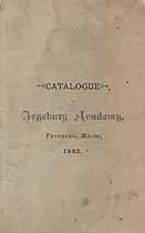 Thumbnail image of Fryeburg Academy 1882 Catalogue cover