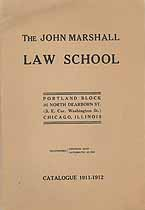 Thumbnail image of John Marshall Law School 1911-1912 Catalogue cover