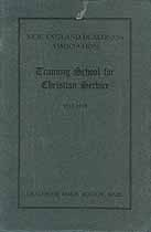 Thumbnail image of New England Training School for Christian Service 1917-1918 Catalogue cover