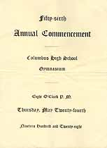 Thumbnail image of Columbus High School 1928 Commencement cover