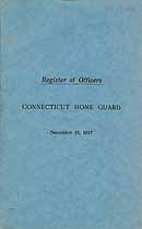 Thumbnail image of Connecticut Home Guard 1917 Register of Officers cover