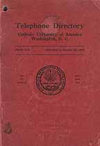 Thumbnail image of Catholic University of America 1932 Directory cover