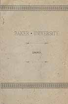 Thumbnail image of Baker University 1888-89 Catalogue cover