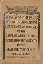 Thumbnail image of New York City German Alien Enemies cover