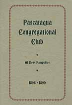 Thumbnail image of Pascataqua Congregational Club 1898-9 cover