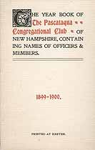 Thumbnail image of Pascataqua Congregational Club 1899-1900 cover