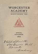 Thumbnail image of Worcester Academy 1910 Catalogue cover