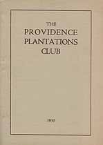 Thumbnail image of Providence Plantations Club 1930 Year Book cover