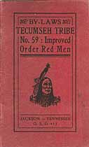 Thumbnail image of Tecumseh Tribe, No. 59, I.O.R.M. cover
