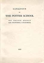 Thumbnail image of Potter School 1919 Catalogue cover