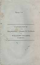 Thumbnail image of Williams College 1840-41 Catalogue cover