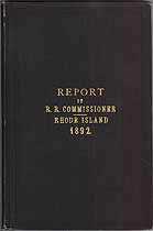 Thumbnail image of Rhode Island 1892 Railroad Accident Reports cover