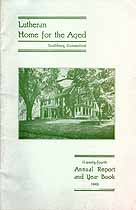 Thumbnail image of Southbury Lutheran Home for the Aged 1942 Report cover