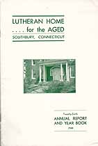 Thumbnail image of Southbury Lutheran Home for the Aged 1944 Report cover