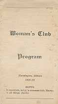 Thumbnail image of Farmington Woman's Club 1919-20 Program cover