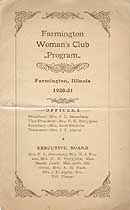 Thumbnail image of Farmington Woman's Club 1920-21 Program cover