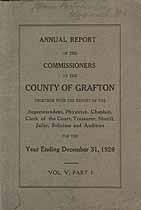Thumbnail image of Grafton County 1926 Reports of the Commissioners cover