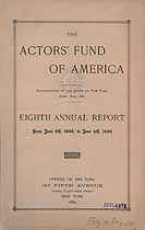 Thumbnail image of The Actors' Fund of America 1888-9 Report cover