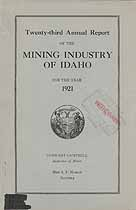 Thumbnail image of Idaho Mining Industry 1921 Accident Reports cover