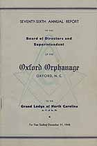 Thumbnail image of Oxford Orphanage 1948 Report cover