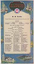Thumbnail image of SS Ecuador 1925 Souvenir Passenger List (NY to San Francisco) cover