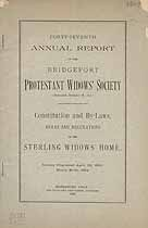 Thumbnail image of Bridgeport Protestant Widows' Society 1896 Report cover