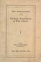 Thumbnail image of Eastern Association of Fire Chiefs 1930 Convention cover