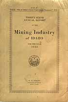 Thumbnail image of Idaho 1934 Fatal Mining Accidents cover