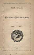 Thumbnail image of Massachusetts Horticultural Society 1859 Report cover