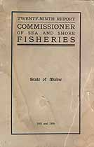 Thumbnail image of Maine Commissioner of Sea and Shore Fisheries 1905 and 1906 Report cover