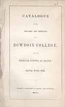 Thumbnail image of Bowdoin College 1853 Catalogue cover