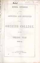 Thumbnail image of Oberlin College 1863-4 Catalogue cover