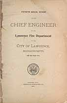 Thumbnail image of Lawrence Fire Department 1898 Report cover
