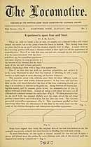 Thumbnail image of The Locomotive 1884 (January) Steam Boiler Insurance Newsletter cover