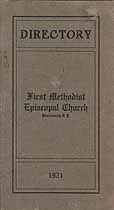 Thumbnail image of Plattsburgh First Methodist Episcopal Church 1921 Directory cover