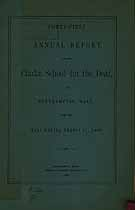 Thumbnail image of Clarke School for the Deaf 1908 Report cover