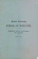 Thumbnail image of Boston University Medical School 1891 Catalogue cover