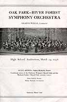 Thumbnail image of Oak Park--River Forest Symphony Orchestra 1936 Performance cover