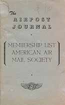 Thumbnail image of American Air Mail Society 1960 Membership Roster cover