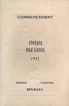 Thumbnail image of Ephrata Borough High 1932 Commencement cover