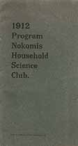 Thumbnail image of Nokomis Household Science Club 1912 Program cover