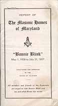 Thumbnail image of Maryland Masonic Homes 1936-1937 Report cover